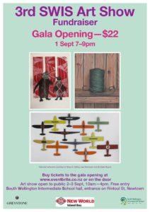 Flyer for South Wellington Art Show 2017